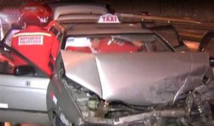 Miraflores: despiste de auto deja un herido