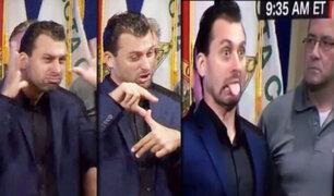 EEUU: intérprete de signos de Florida causa furor en las redes sociales