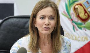 Fuerza Popular presentará moción de censura contra ministra de Educación