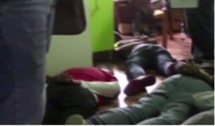 Policías capturan a presuntos autores de la balacera en Jirón de la Unión