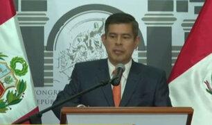 Galarreta calificó de 'lamentable e innecesario' que Zavala comprometa a su Gabinete