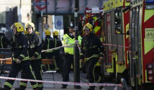Inglaterra: atentado terrorista en metro de Londres deja 29 personas heridas