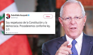 PPK se pronuncia tras negación de confianza a Gabinete Ministerial