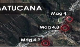 Varias provincias alarmadas tras constantes sismos en el país