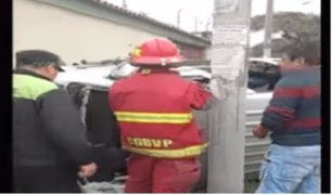 Javier Prado: accidente de tránsito deja a chofer con graves lesiones