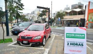 Desde hoy conductores solo podrán estacionarse por dos horas en San Isidro
