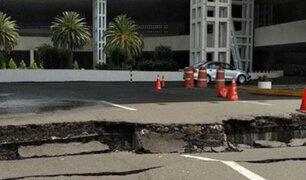 Terremoto en México: cierran aeropuerto por grieta en zona de acceso