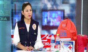 Sepa que elementos debe contener la mochila de emergencia ante un sismo