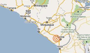 Sismo de 5,9  se registra esta noche en Tacna y Arequipa