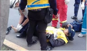 Conductor atropella a fiscalizadora municipal en la Av. Arequipa
