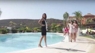 Candidata a Miss Universo Españasufrióaparatosa caídadurante un desfile