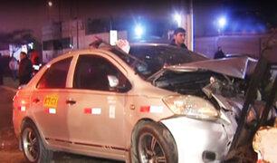 Callao: colisión de autos deja seis personas heridas