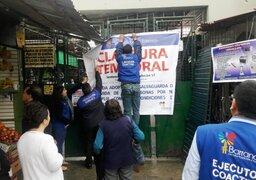 Clausuran el mercado Nº 2 de Barranco por ser de alto peligro para comerciantes y clientes