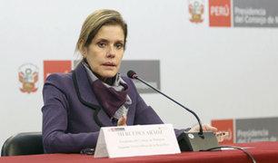 Premier Mercedes Aráoz respalda el retorno de la bicameralidad
