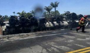 Loreto: despiste y explosión de camión cisterna deja un muerto