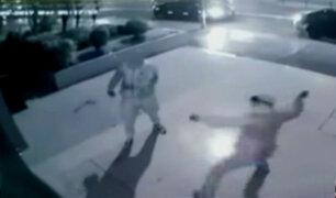 Difunden imágenes de asalto a agencia de viajes en Miraflores