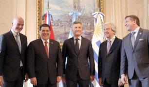Presentan postulación de Argentina, Uruguay y Paraguay para el Mundial 2030