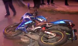 San Isidro: repartidor de comida rápida resulta herido tras chocar contra taxi