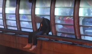 Miraflores: rescatan a joven que intentó lanzarse del puente Villena