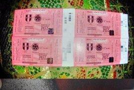 Capturan a sujetos que vendían entradas falsas para el Perú - Colombia