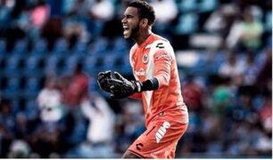 El mejor jugador de  las eliminatorias: Pedro Gallese en el arco del triunfo