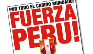 """Facebook: """"¡Fuerza Perú!"""", el enorme gesto de los uruguayos que conmueve antes del Perú vs. Colombia"""