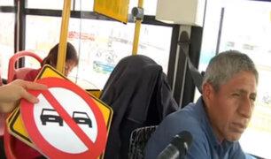 Choferes desconocen el significado de las señales de tránsito en la capital