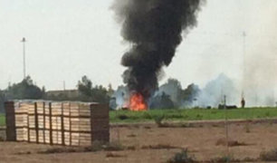 España: un avión militar Eurofighter se estrella en Albacete
