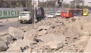 SJL: vecinos denuncian falta de reconstrucción del Malecón Checa