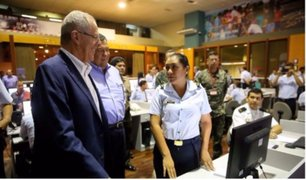Desde el COEN: presidente Pedro Pablo Kuczynski supervisó simulacro de sismo