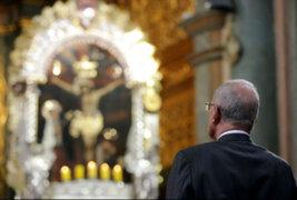 Misa en las Nazarenas: PPK participa en liturgia en honor al Señor de los Milagros