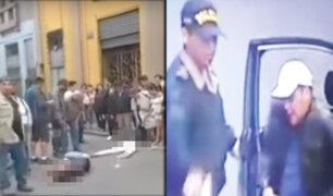 Cercado de Lima: auto embiste a pareja de jóvenes en moto