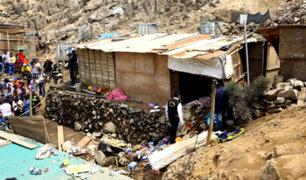 Huarochirí: madre y su bebé mueren aplastados por una enorme roca