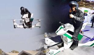 Dubái: policía presenta moto voladora para patrullar desde las alturas