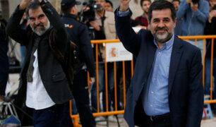 España: envían a prisión a líderes del independentismo en Cataluña