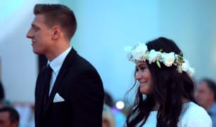 Pareja es sorprendida con danza maorí en el día de su boda