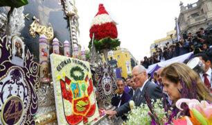 Palacio de Gobierno: PPK y Gabinete rinden homenaje al Señor de los Milagros
