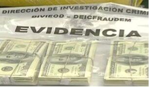 Callao: Policía detiene a banda falsificadora de documentos y billetes
