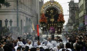 Cercado de Lima: se realiza tercer recorrido procesional del Señor de los Milagros