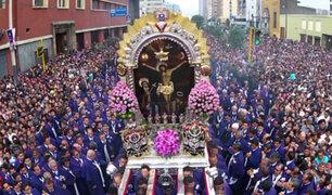 Continúa el recorrido procesional del Señor de los Milagros en el Cercado de Lima