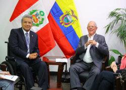 PPK y Lenín Moreno se reúnen previo al inicio del Gabinete Binacional