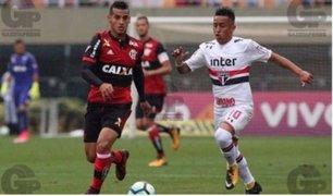 Christian Cueva le ganó duelo de peruanos a Trauco en el Brasileirao