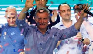 Argentina: Mauricio Macri celebra triunfo del oficialismo en elecciones legislativas