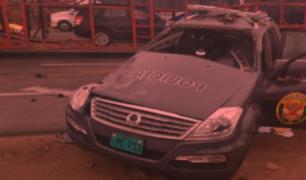 Panamericana Sur: trasladan a la morgue restos de Policía fallecido en Lurín