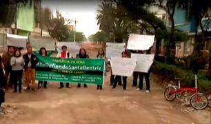 Santa Beatriz: vecinos protestan por obras de ampliación de pistas
