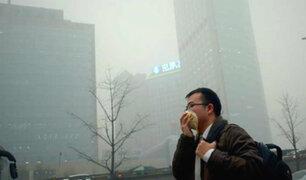 Pekín en alerta amarilla por contaminación del aire