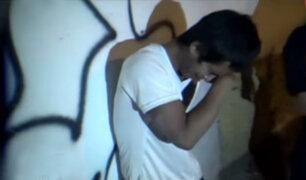 Tarapoto: delincuente llora desconsoladamente tras ser capturado por la policía