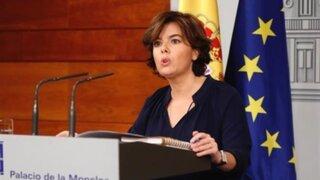 Vicepresidenta de España asume temporalmente la conducción de Cataluña
