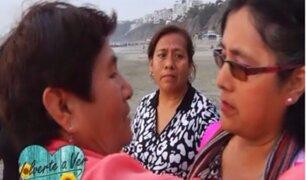 Maritza se reencuentra con sus hermanas Rosa y María tras 40 años
