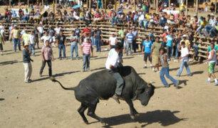 Ancash: toro cornea a jinete dejándolo gravemente herido y luego escapa de ruedo